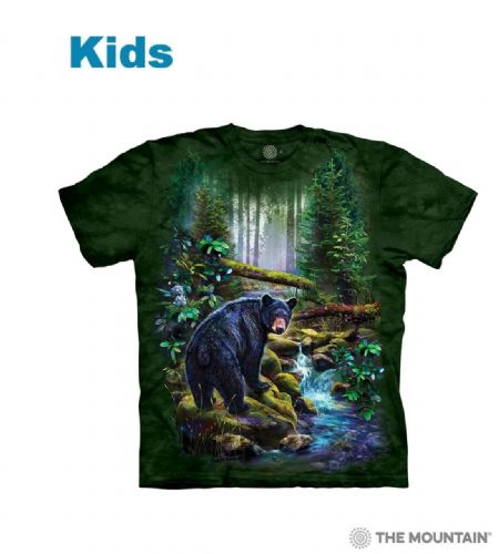 Black Bear Forest - Kids Wildlife T-shirt - The Mountain®